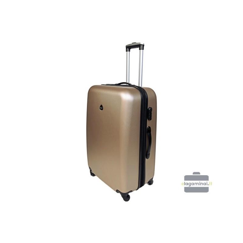 Vidutinis plastikinis lagaminas Gravitt 866-V Šampaninis