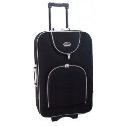 Didelis medžiaginis lagaminas Suitcase 801-D Juodas