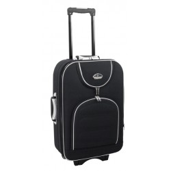 Vidutinis medžiaginis lagaminas Suitcase 801-V Juodas
