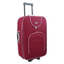 Didelis medžiaginis lagaminas Suitcase 801-D Tamsiai raudonas