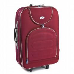 Vidutinis medžiaginis lagaminas Suitcase 801-V Tamsiai raudonas