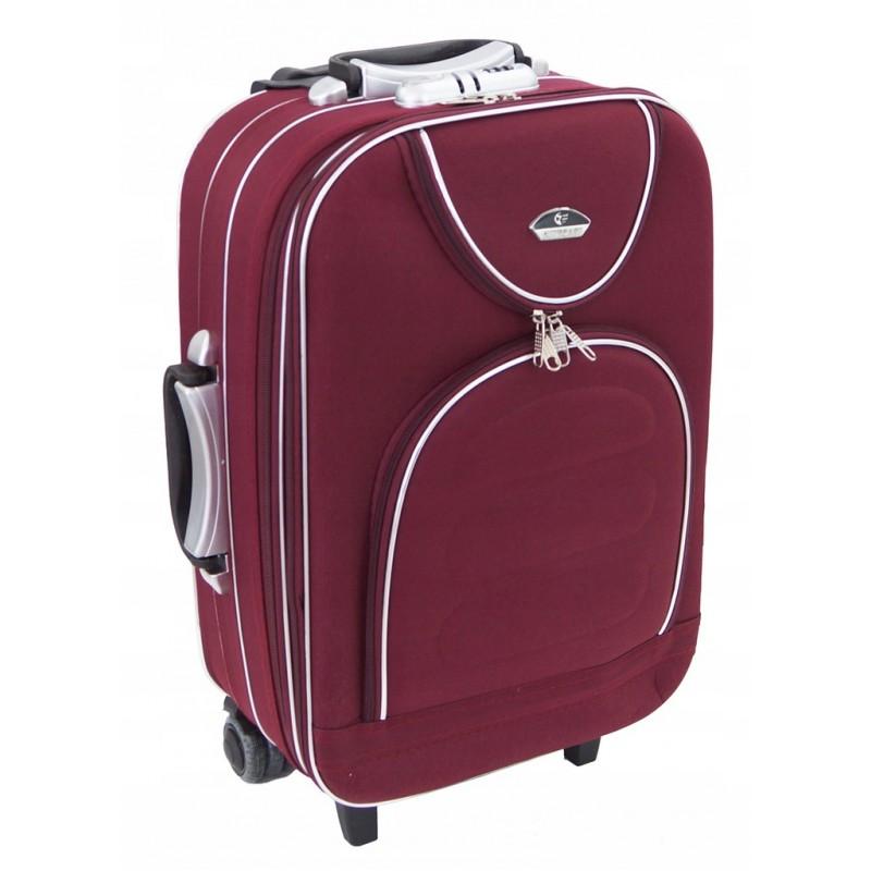 Mažas medžiaginis lagaminas Suitcase 801-M Tamsiai raudonas