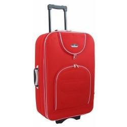Didelis medžiaginis lagaminas Suitcase 801-D Raudonas