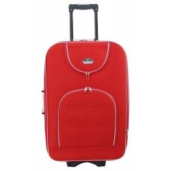 Vidutinis medžiaginis lagaminas Suitcase 801-V Raudonas