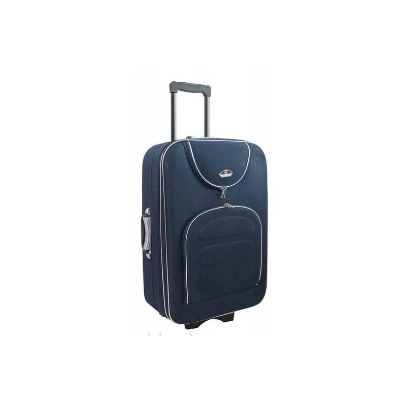 Didelis medžiaginis lagaminas Suitcase 801-D Tamsiai mėlynas