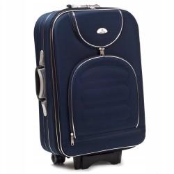 Vidutinis medžiaginis lagaminas Suitcase 801-V Tamsiai mėlynas