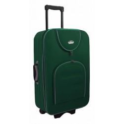 Didelis medžiaginis lagaminas Suitcase 801-D Tamsiai žalias