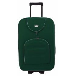 Vidutinis medžiaginis lagaminas Suitcase 801-V Tamsiai žalias