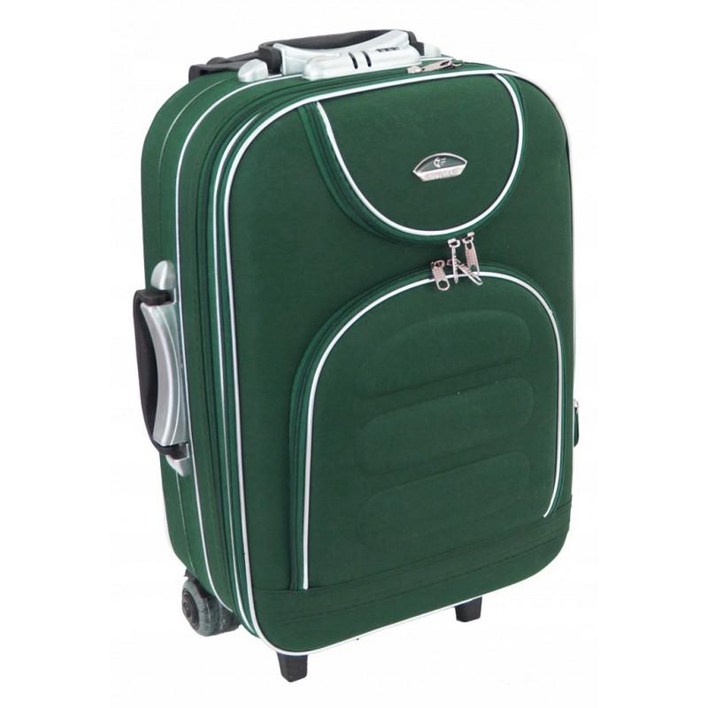 Mažas medžiaginis lagaminas Suitcase 801-M Tamsiai žalias