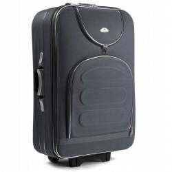 Didelis medžiaginis lagaminas Suitcase 801-D Tamsiai pilkas