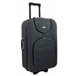 Vidutinis medžiaginis lagaminas Suitcase 801-V Tamsiai pilkas