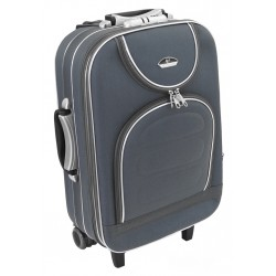 Mažas medžiaginis lagaminas Suitcase 801-M Tamsiai pilkas