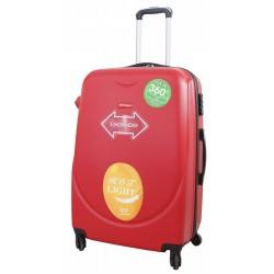 Vidutinis plastikinis lagaminas Gravitt 310-V Raudonas