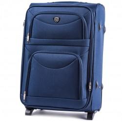 Vidutinis medžiaginis lagaminas Wings 6802-2-V Mėlynas