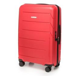 Vidutinis plastikinis lagaminas Wittchen 56-3T-772 Raudonas