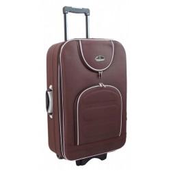 Didelis medžiaginis lagaminas Suitcase 801-D Rudas