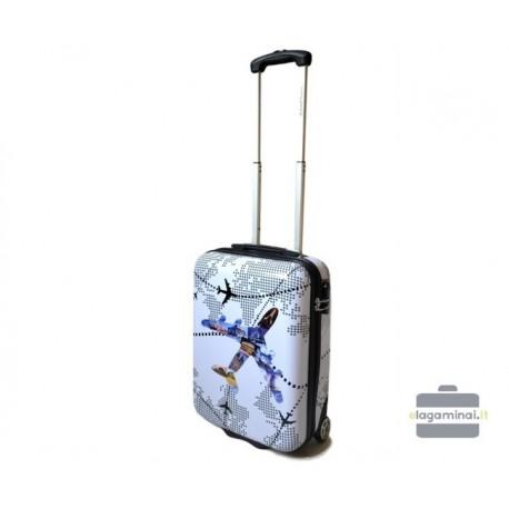 Mažas plastikinis lagaminas David Jones 2049-M