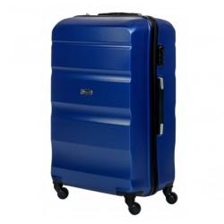 Vidutinis plastikinis lagaminas Gravitt Travel 710-V Tamsiai mėlynas