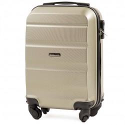 Vaikiškas plastikinis lagaminas Wings AT01-XS Šampano spalva
