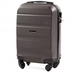 Vaikiškas plastikinis lagaminas Wings AT01-XS Tamsiai pilkas