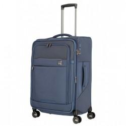 Vidutinis medžiaginis lagaminas Titan Prime-V Mėlynas