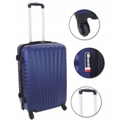 Vidutinis plastikinis lagaminas Gravitt 888A-V Tamsiai mėlynas