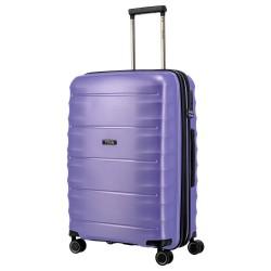 Vidutinis plastikinis lagaminas Titan Highlight-V Violetinis