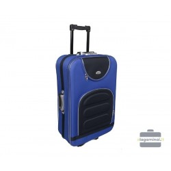 Vidutinis medžiaginis lagaminas Deli 801-V Mėlynas/juodas
