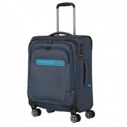 Mažas medžiaginis lagaminas Travelite Madeira M Tamsiai mėlynas