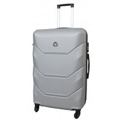 Vidutinis plastikinis lagaminas Gravitt 950-V Sidabro spalva