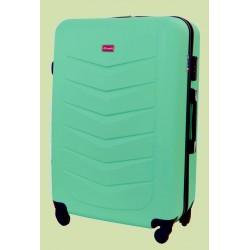 Didelis plastikinis lagaminas Gravitt Travel 602-D Šviesiai žalias