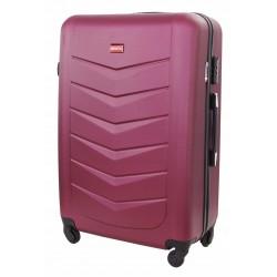 Didelis plastikinis lagaminas Gravitt Travel 602-D Tamsiai raudonas