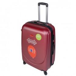 Didelis plastikinis lagaminas Gravitt 310-2Z-D Tamsiai raudonas
