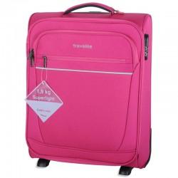 Mažas lagaminas Travelite Cabin rožinis
