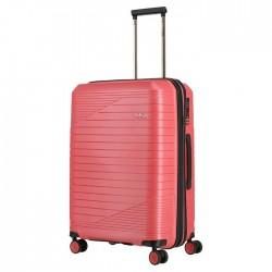Vidutinis plastikinis lagaminas Titan Transport V Rožinis
