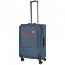Vidutinis medžiaginis lagaminas Travelite Arona V Mėlynas