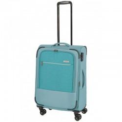 Vidutinis medžiaginis lagaminas Travelite Arona V Šviesiai mėlynas (Aqua)