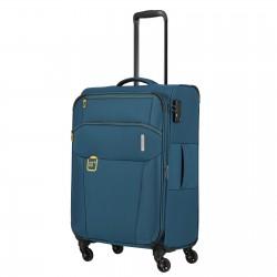 Vidutinis medžiaginis lagaminas Travelite Go V Mėlynas (Petrol)