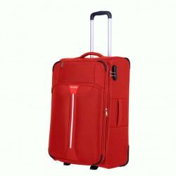Vidutinis medžiaginis lagaminas Travelite Speedline V-2w Raudonas