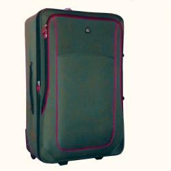 Vidutinis medžiaginis lagaminas SemiLine 5459-V Chaki spalva