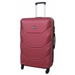 Vidutinis plastikinis lagaminas Gravitt 950-V Tamsiai raudonas