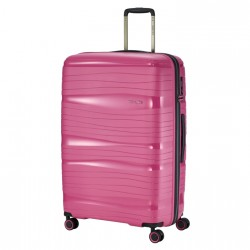 Didelis plastikinis lagaminas Travelite Motion D Rožinis
