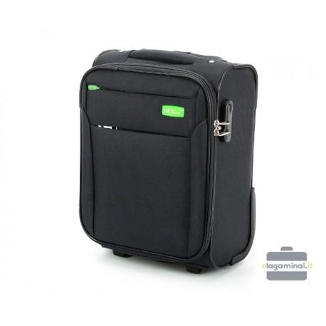 Mažas medžiaginis Wizzair lagaminas VIP Travel V25-3S-220-LMW Juodas