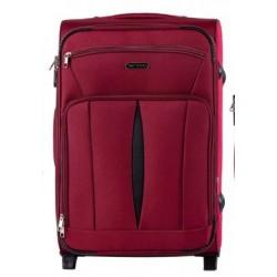 Vidutinis medžiaginis lagaminas Wings 1601-2-V Tamsiai raudonas