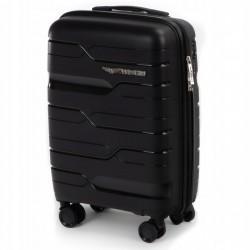 Mažas plastikinis lagaminas Wings PP08-M Juodas