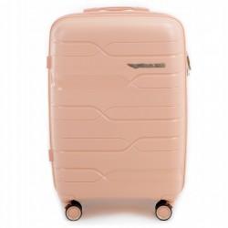 Didelis plastikinis lagaminas Wings PP08-D Rožinis (Peach pink)