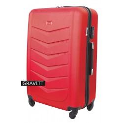 Vidutinis plastikinis lagaminas Gravitt 602-V Tamsiai rožinis