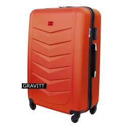Vidutinis plastikinis lagaminas Gravitt 602-V Oranžinis