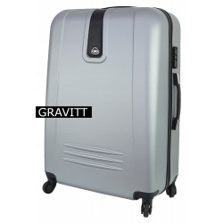 Didelis plastikinis lagaminas Gravitt 168A-D Sidabro spalva