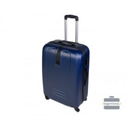 Vidutinis plastikinis lagaminas Szyk 168-V Tamsiai mėlynas